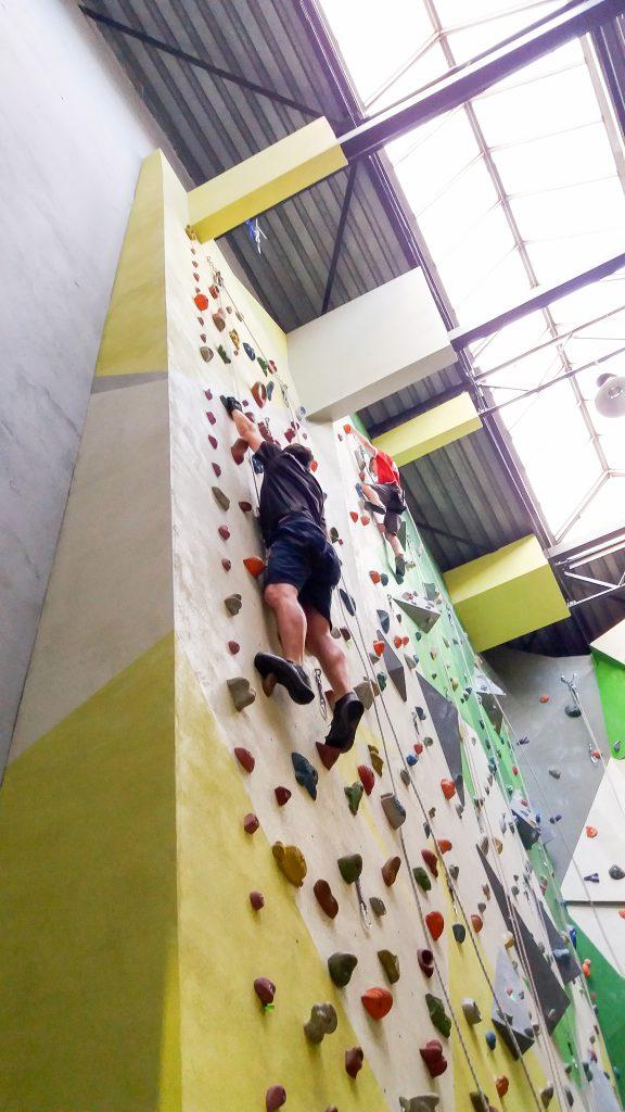 Runmageddon Wrocław - trening na ściance wspinaczkowej